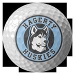 golf ball with HHSABC logo